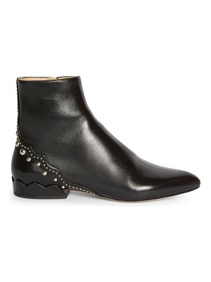 Chloe laurena studded leather ankle boots