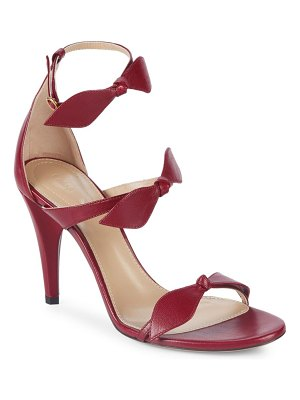 Chloe Leather Bow Sandals