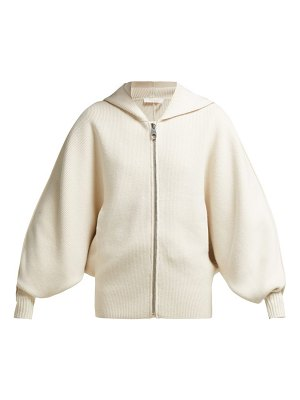 Chloe Logo Intarsia Wool And Cashmere Blend Cardigan
