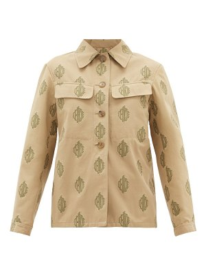 Chloe logo-jacquard cotton jacket