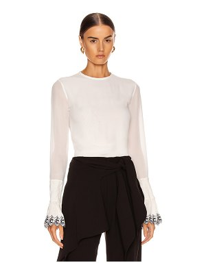 Chloe long sleeve embellished sleeve top