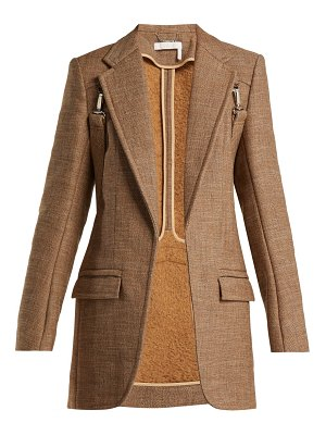 Chloe Long tweed harness blazer