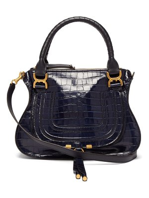 Chloe marcie medium crocodile embossed leather bag