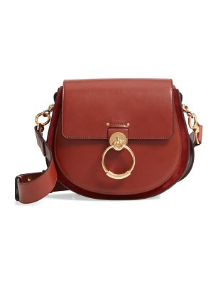 Chloe medium tess calfskin leather shoulder bag