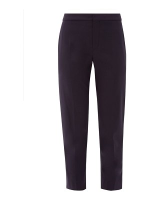 Chloe mid rise cropped wool blend trousers