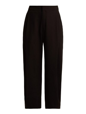 Chloe mid-rise pleated crepe trousers