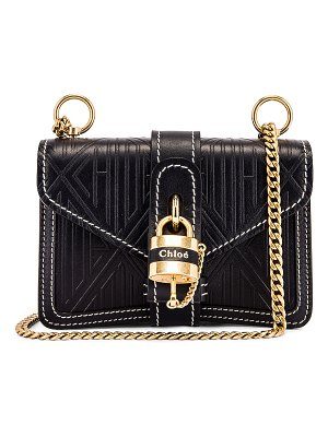Chloe mini aby chain embossed monogram shoulder bag