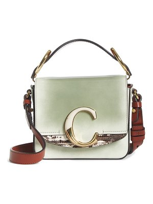Chloe mini c leather shoulder bag