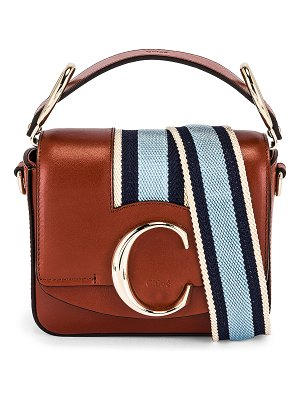 Chloe mini c webbing stripe box bag