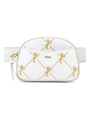 Chloe Signature Embroidered Leather Belt Bag