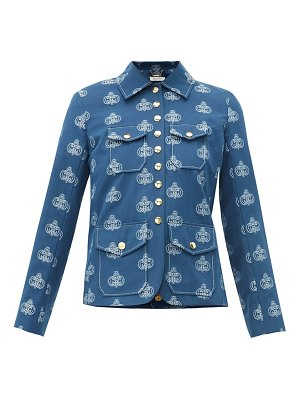 Chloe monogram jacquard cotton jacket