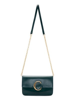 Chloe navy  c chain clutch bag