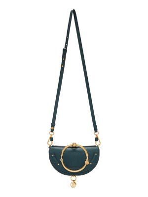 Chloe navy nile minaudiere bag