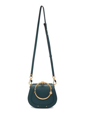 Chloe navy small nile bracelet bag