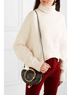 Chloe nile bracelet mini snake-effect leather shoulder bag