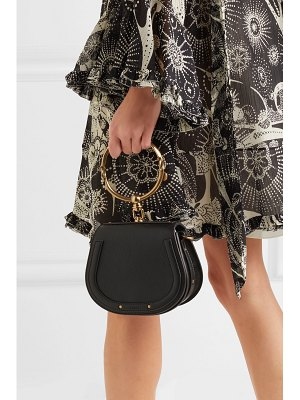 Chloe nile bracelet small textured-leather and suede shoulder bag
