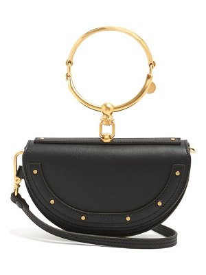 Chloe nile minaudière leather clutch