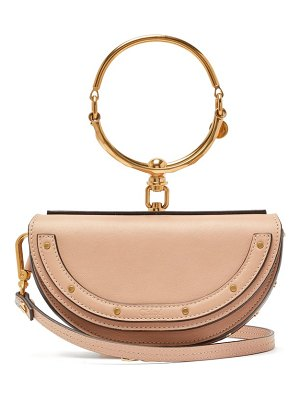 Chloe nile minaudière small leather clutch