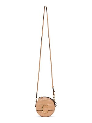 Chloe orange mini croc  c shoulder bag