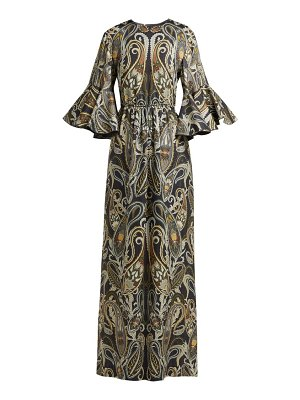 Chloe Paisley Print Silk Blend Dress