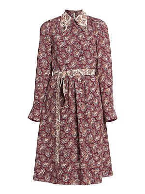 Chloe paisley silk shirtdress