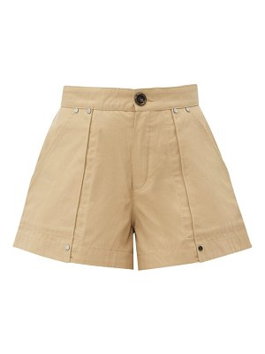 Chloe patch-pocket cotton-canvas shorts