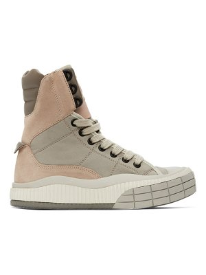 Chloe pink and beige clint high-top sneakers