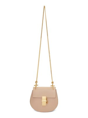Chloe pink mini drew bag