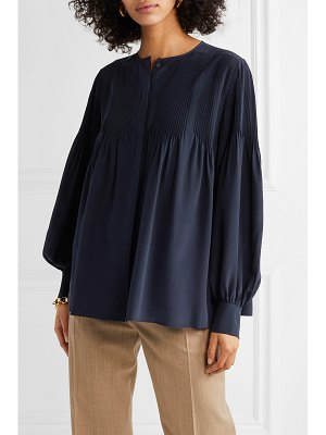 Chloe pintucked silk blouse