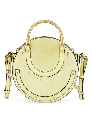 Chloe Pixie Small Round Double-Handle Shoulder Bag