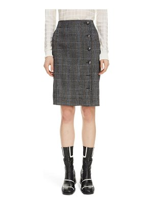 Chloe plaid stretch wool pencil skirt