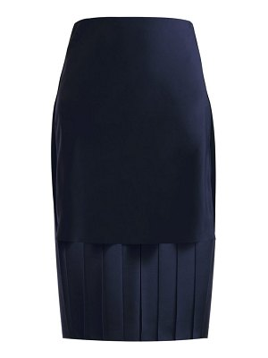 Chloe pleated silk midi skirt