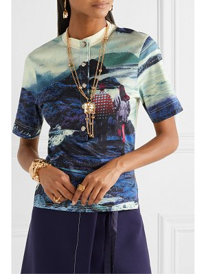 Chloe printed cotton-jersey top