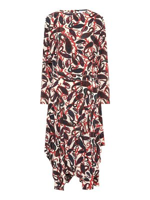 Chloe printed silk midi dress