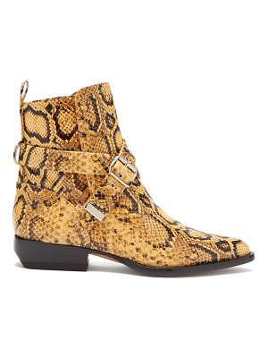 Chloe python effect leather ankle boots