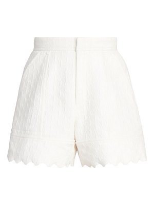 Chloe quilted jacquard cotton shorts
