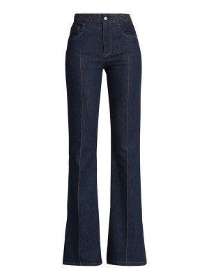 Chloe recycled stretch-flare jeans