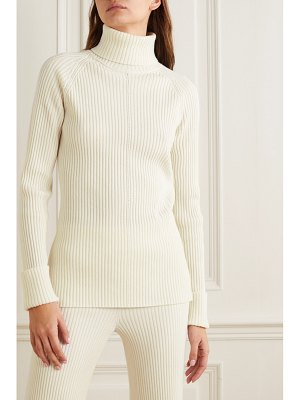 Chloe ribbed wool and silk-blend turtleneck sweater