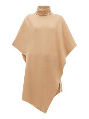 Chloe roll-neck cashmere poncho