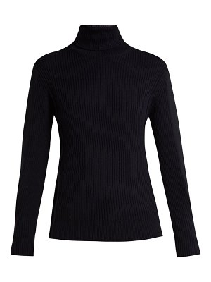 Chloe roll neck ribbed wool sweater