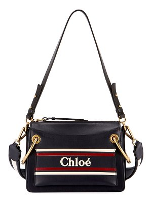 Chloe Roy Logo Leather Shoulder Bag
