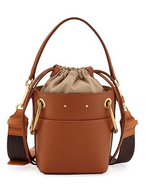 Chloe Roy Mini Calf Leather Bucket Bag