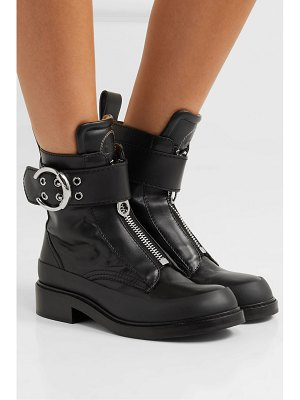 Chloe roy rubber-trimmed leather ankle boots