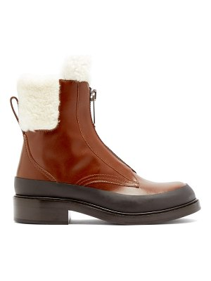Chloe roy shearling-lined leather boots