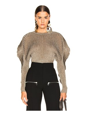 Chloe ruffle trim ribbed sweater