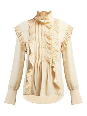 Chloe Ruffled Crepe De Chine Blouse
