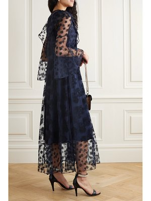Chloe ruffled embroidered tulle maxi dress