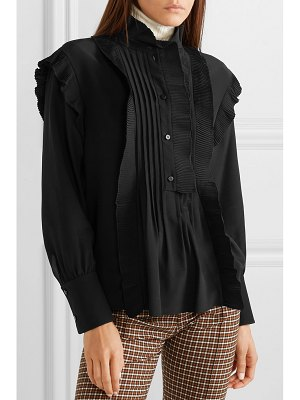 Chloe ruffled silk crepe de chine blouse