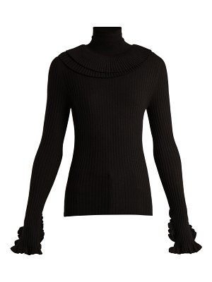 Chloe Ruffled-trim wool sweater