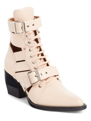 Chloe rylee caged pointy toe boot